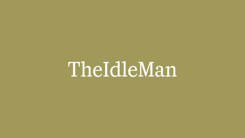 idle man green background