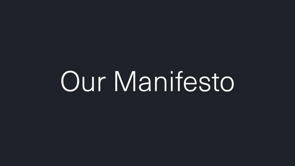 Creative services manifesto