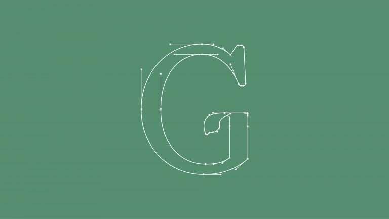 Brand logo letterform